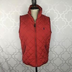 Ralph Lauren Red Quilted Vest